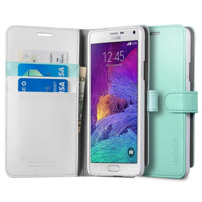 Чехол Spigen Wallet S Mint для Samsung Galaxy Note 4