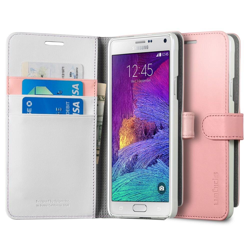 Чехол Spigen Wallet S Pink для Samsung Galaxy Note 4