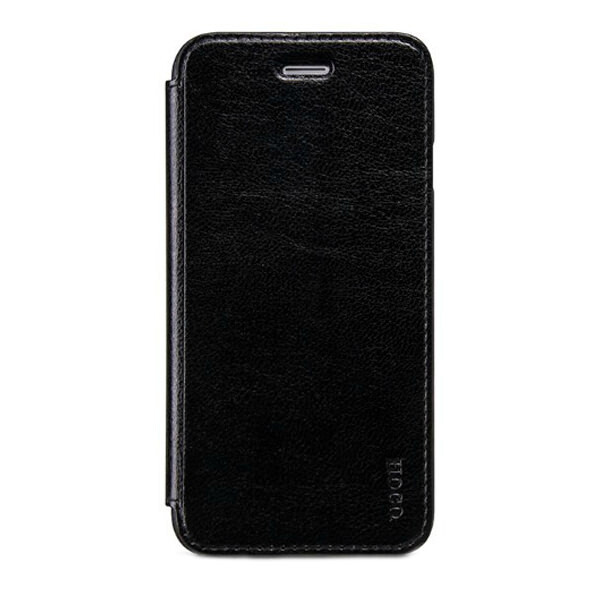 Кожаный боковой флип-чехол HOCO Luxury Series Black для iPhone 6/6s