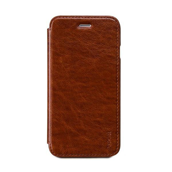Кожаный боковой флип-чехол HOCO Luxury Series Brown для iPhone 6/6s