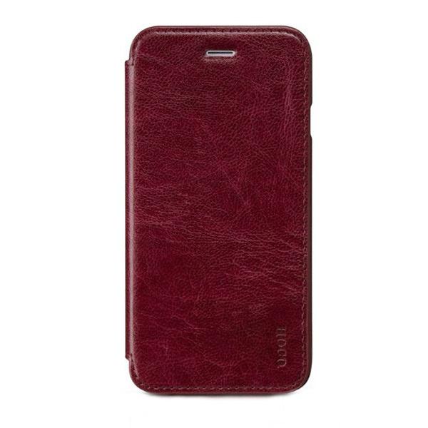 Кожаный боковой флип-чехол HOCO Luxury Series Red для iPhone 6/6s