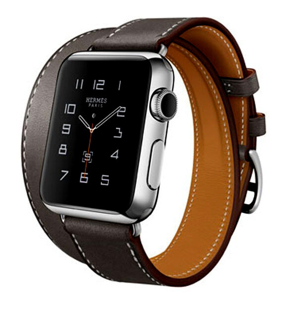 Ремешок HOCO HERMÈS DOUBLE TOUR Black для Apple Watch 38mm Series 1/2