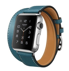 Купить Ремешок HOCO HERMÈS DOUBLE TOUR Blue для Apple Watch 38mm Series 1/2/3