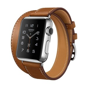 Купить Ремешок HOCO HERMÈS DOUBLE TOUR Brown для Apple Watch 42mm Series 1/2