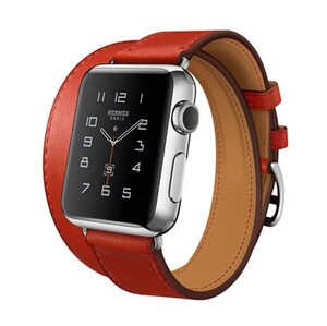 Купить Ремешок HOCO HERMÈS DOUBLE TOUR Red для Apple Watch 42mm Series 1/2/3