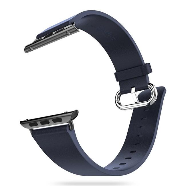 Кожаный ремешок HOCO Leather Blue для Apple Watch 38mm