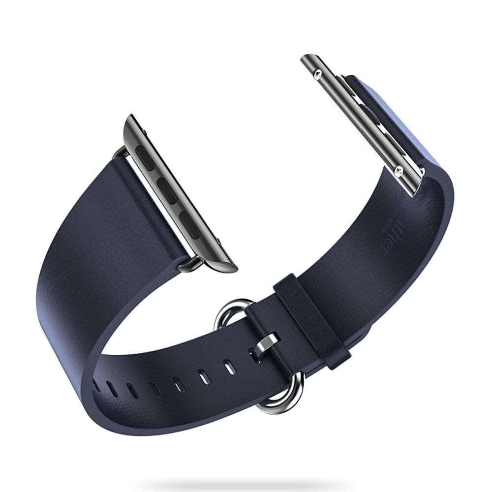 Кожаный ремешок HOCO Leather Blue для Apple Watch 42mm Series 1/2/3