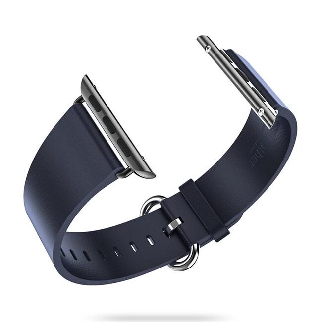 Кожаный ремешок HOCO Leather Blue для Apple Watch 42mm