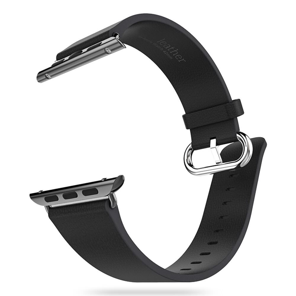 Кожаный ремешок HOCO Leather Black для Apple Watch 38mm Series 1/2