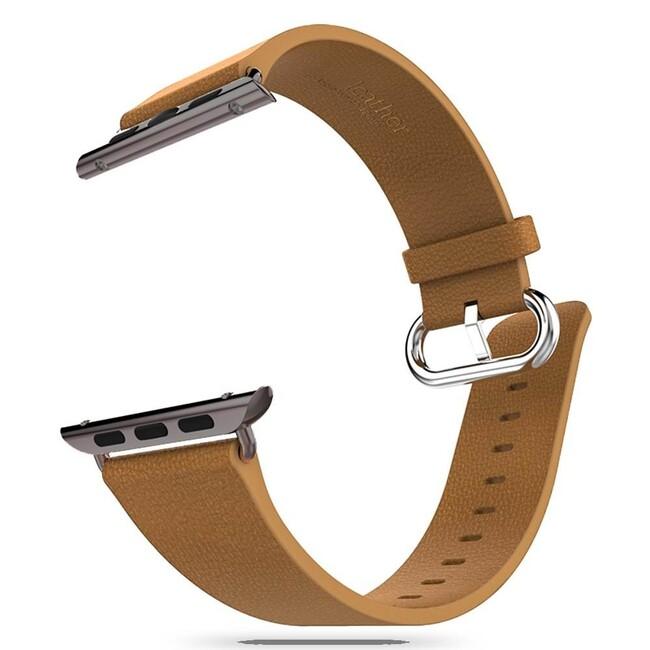 Кожаный ремешок HOCO Leather Brown для Apple Watch 38mm