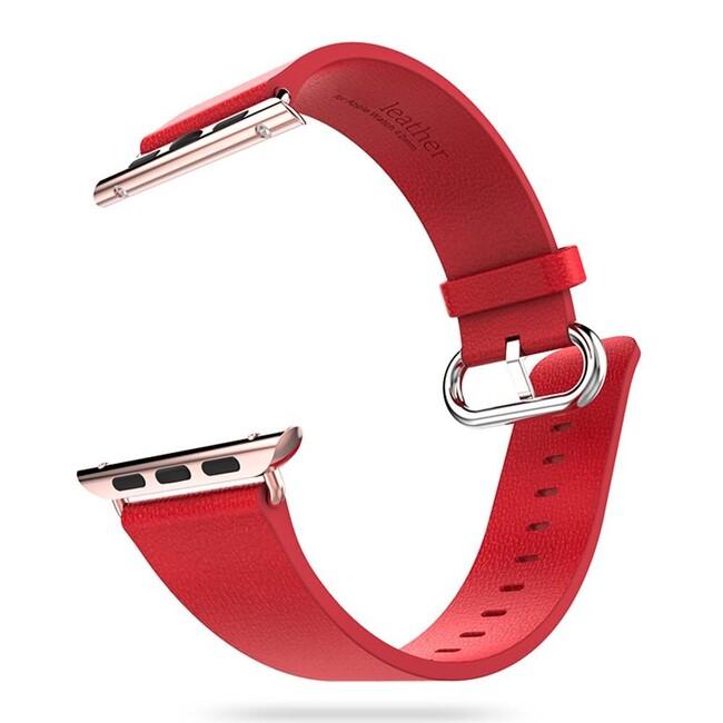 Кожаный ремешок HOCO Leather Red для Apple Watch 38mm