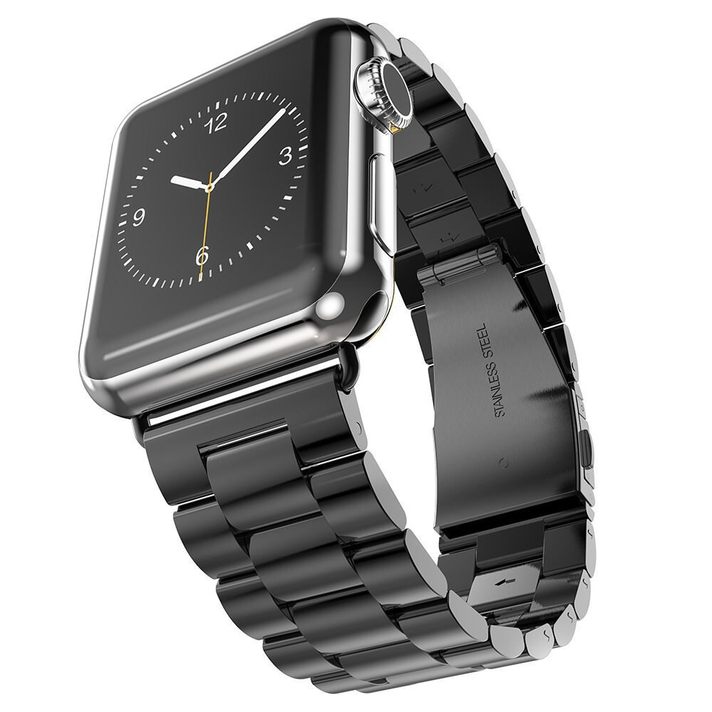 Металлический ремешок HOCO Stainless Steel Black для Apple Watch 38mm Series 1/2/3
