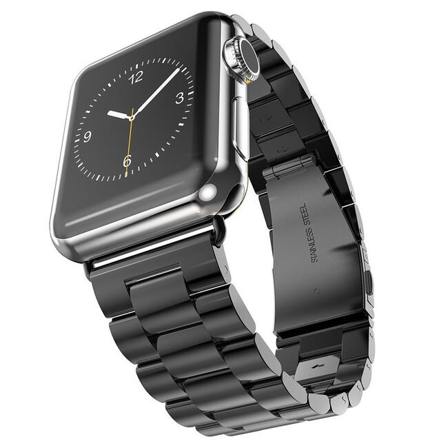 Металлический ремешок HOCO Stainless Steel Black для Apple Watch 38mm