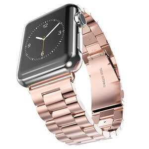 Металлический ремешок HOCO Stainless Steel Rose Gold для Apple Watch 38mm