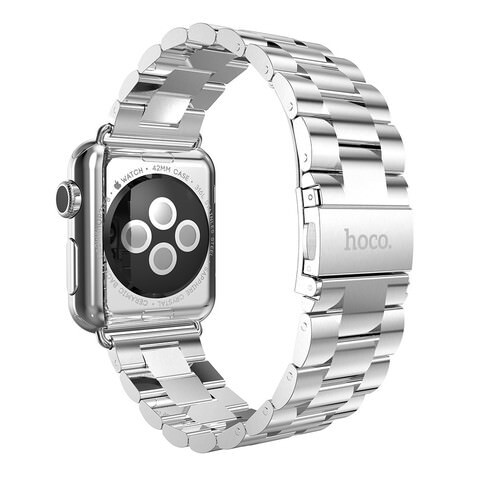 Металлический ремешок HOCO Stainless Steel Silver для Apple Watch 42mm Series 1/2