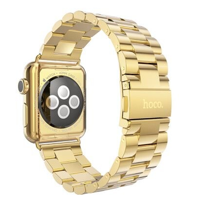 Металлический ремешок HOCO Stainless Steel Yellow Gold для Apple Watch 42mm Series 1/2