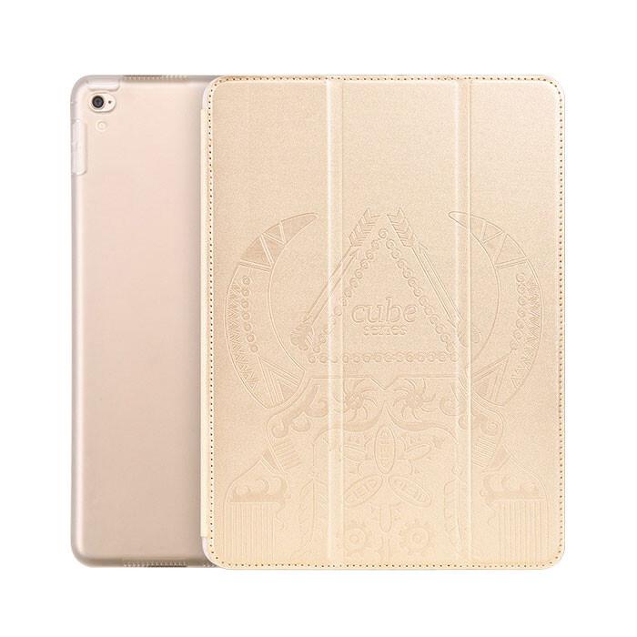 "Кожаный чехол Hoco Cube Series Gold для iPad Pro 9.7"""
