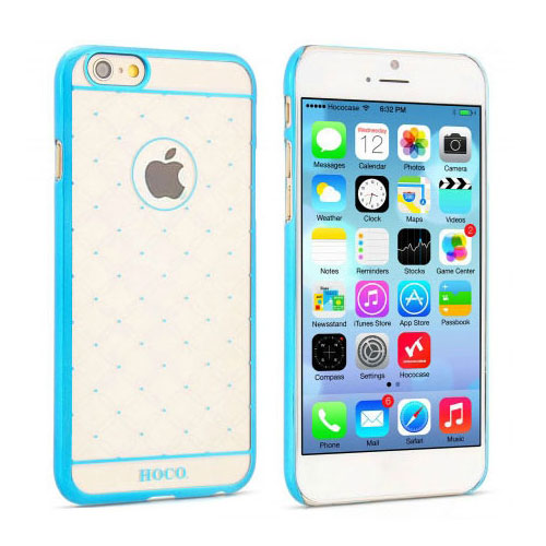 Чехол HOCO Defender Transparent Blue для iPhone 6/6s