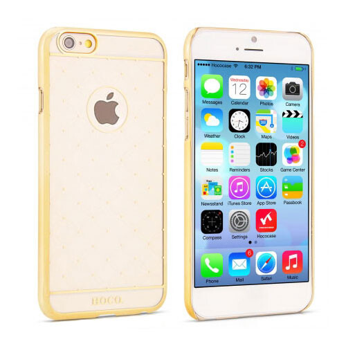 Чехол HOCO Defender Transparent Golden для iPhone 6/6s