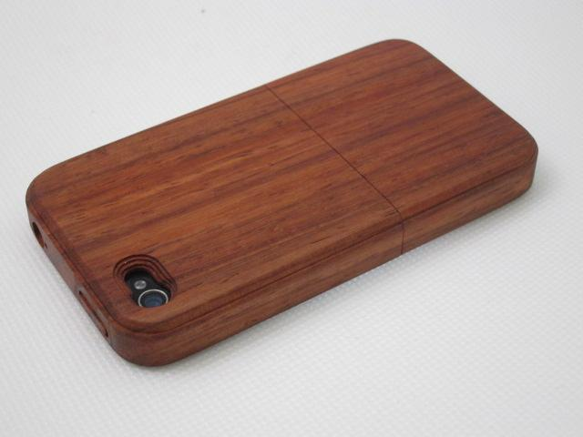 iwooden Real Genuine Red Wood Wooden Case Cover для iPhone 4/4S