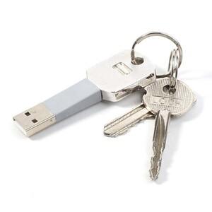 Купить Брелок-кабель KeyCharge Lightning для зарядки iPhone/iPad/iPod Серый