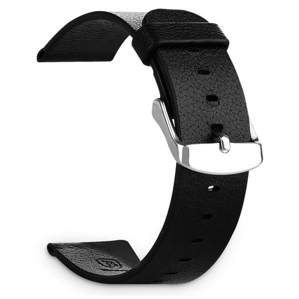 Кожаный черный ремешок Baseus Classic Buckle для Apple Watch Series 1/2 42mm