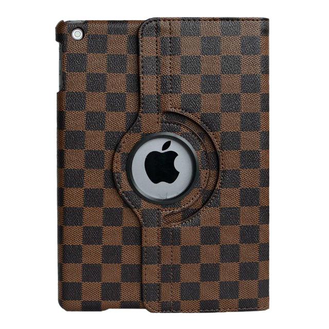 Кожаный чехол 360 LV Pattern Brown для iPad Air