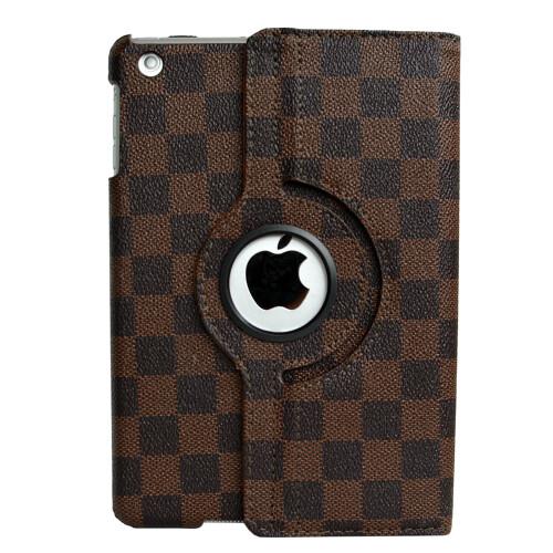 Кожаный чехол 360 LV Pattern Brown для iPad mini 1/2/3