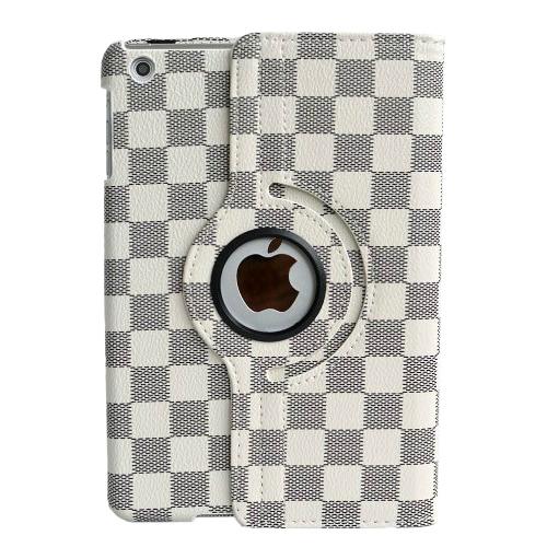 Кожаный чехол 360 LV Pattern White для iPad mini 4