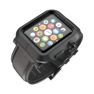 Купить Чехол LUNATIK EPIK ALUMINUM Black с черным кожаным ремешком для Apple Watch Series 1 42mm