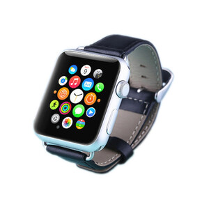 Купить Кожаный ремешок LunaTik Chicago Collection Black для Apple Watch 38mm Series 1/2