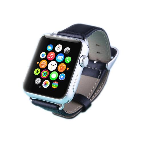 Кожаный ремешок LunaTik Chicago Collection Black для Apple Watch