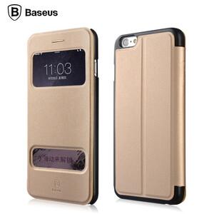 Купить Кожаный флип-чехол Baseus Pure View Series Beige для iPhone 6 Plus/6s Plus