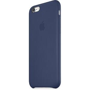 Оригинальный кожаный чехол Apple Leather Case Midnight Blue для iPhone 6