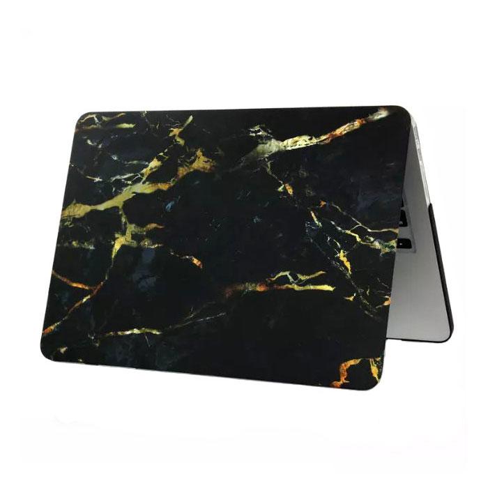 "Купить Мраморный чехол iLoungeMax Marble Black   Yellow для MacBook 12"""