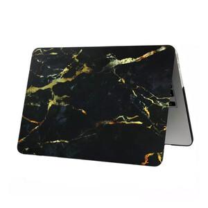 "Купить Мраморный чехол Marble Black/Yellow для MacBook 12"""