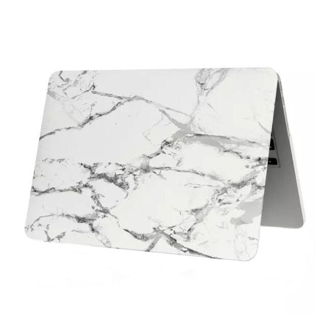 """Мраморный чехол Marble White/Gray для MacBook 12"""""""