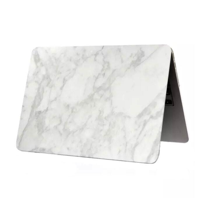 """Мраморный чехол Marble White/White для MacBook 12"""""""