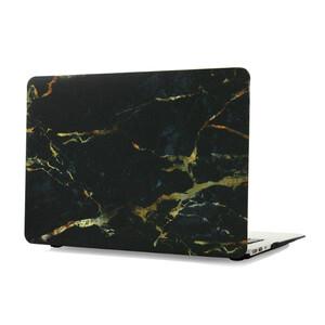 """Купить Мраморный чехол Marble Black/Yellow для MacBook Air 11"""""""