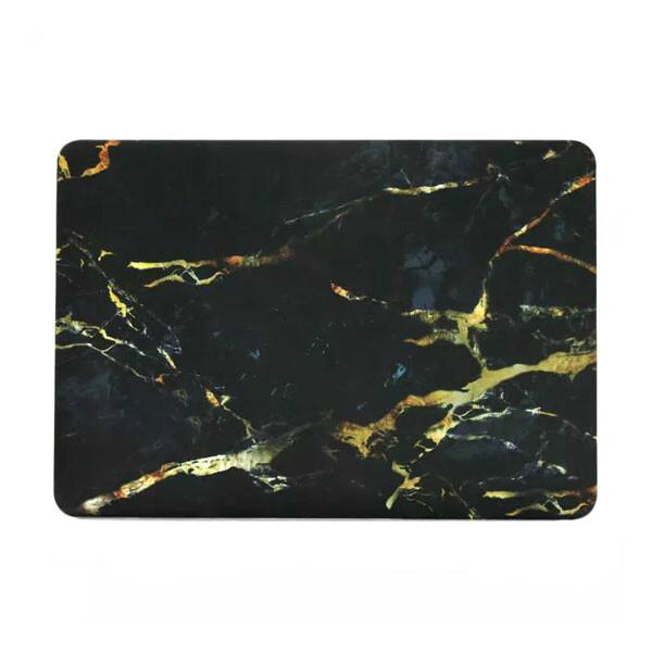 """Мраморный чехол Marble Black/Yellow для MacBook Air 13"""""""