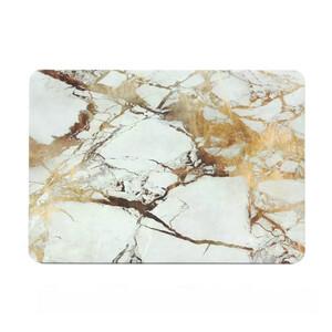 """Мраморный чехол Marble White/Yellow для MacBook Air 13"""""""