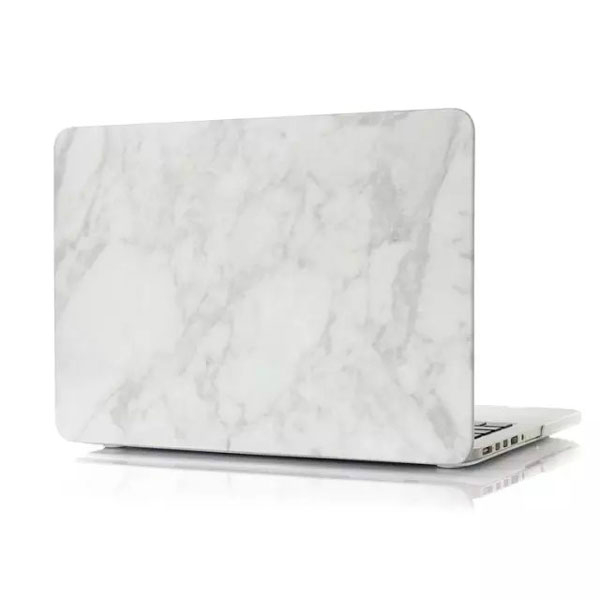 "Мраморный чехол Marble White/White для MacBook Pro 13"" Retina"
