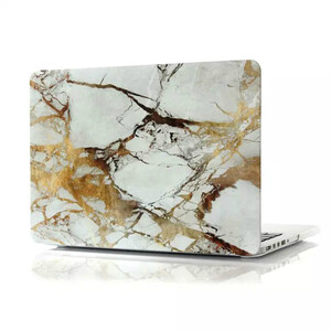 "Мраморный чехол Marble White/Yellow для MacBook Pro 13"" Retina"