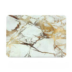 "Мраморный чехол Marble White/Yellow для MacBook Pro 15"" Retina"
