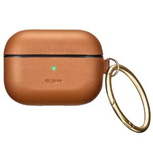 Купить Кожаный чехол с карабином ESR Metro Light Series Brown для AirPods Pro