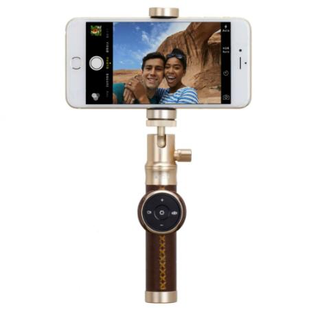 Монопод Momax Selfie Pro 50cm Gold + трипод