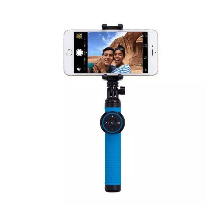 Bluetooth монопод Momax Selfie Hero Blue 50cm + Tripod