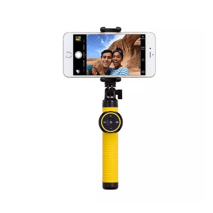 Bluetooth монопод Momax Selfie Hero Yellow 50cm + Tripod