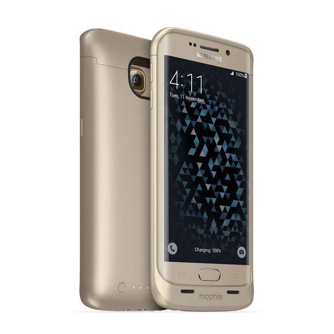 Чехол-аккумулятор Mophie Juice Pack Gold для Samsung Galaxy S6 Edge