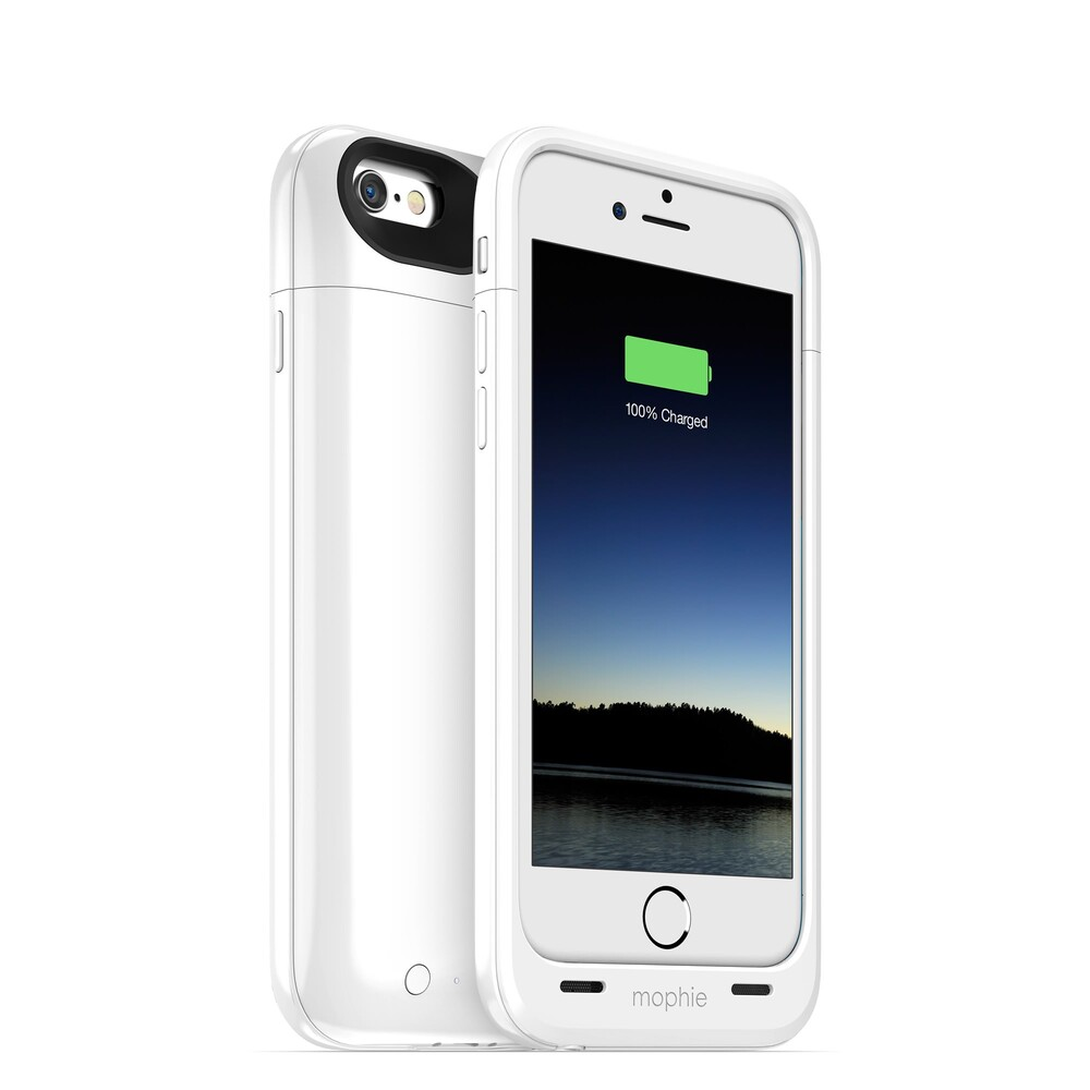 Чехол Mophie Juice Pack Plus Gloss White для iPhone 6/6s